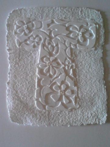 white paper pulp kimono