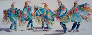 five dancing Indians