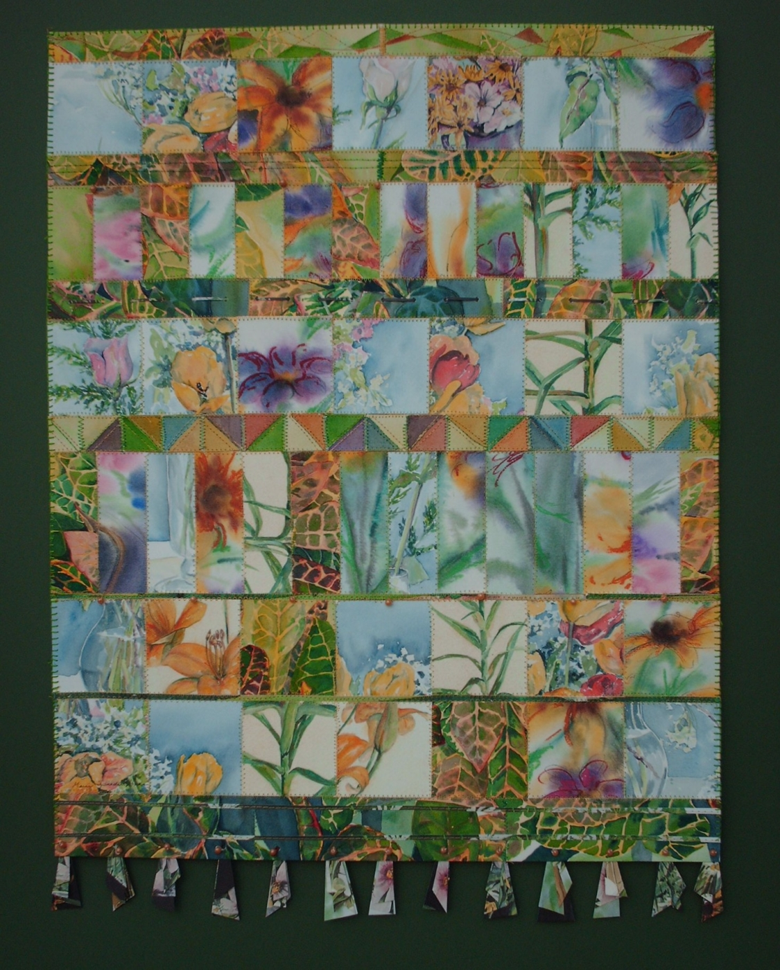 Paper quilt of flowers
