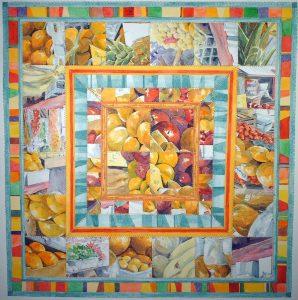 Paper quilt of fruit