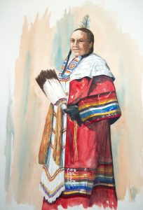 Female Native American dancer