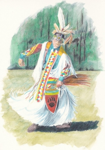 male grass dancer