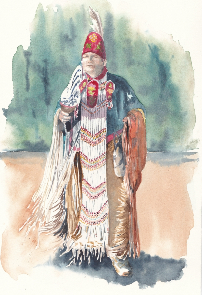 Native American traditional dancer
