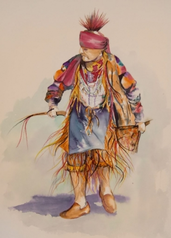 old native dancer