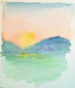 painting of early dawn