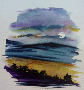 moonglow on wheat fields