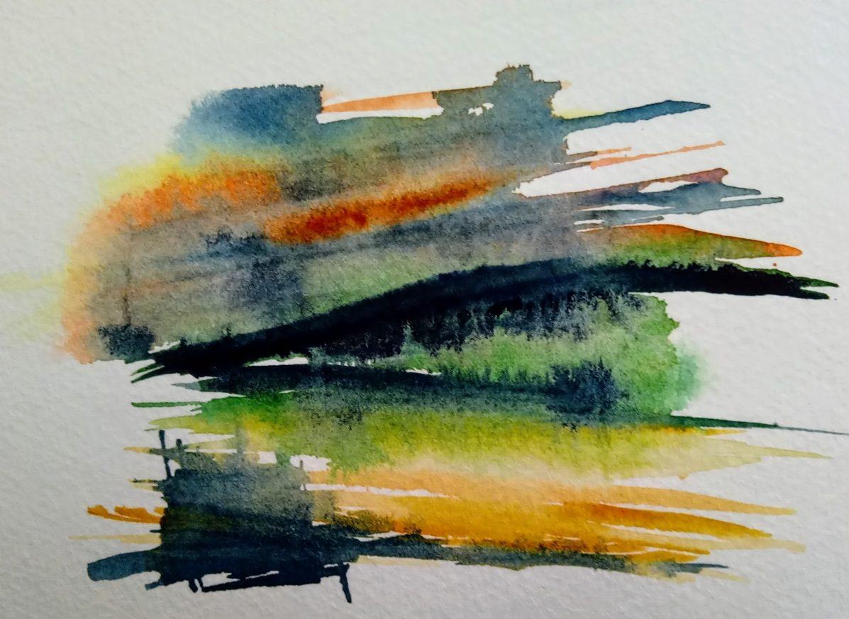 dawn over a wheat field