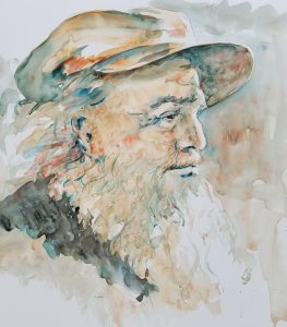 Old man in profile