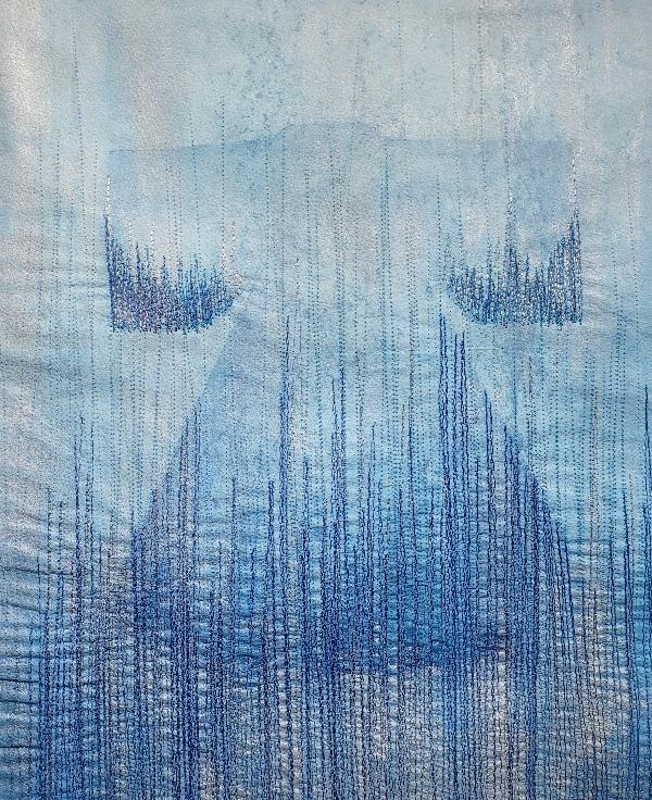 blue kimono